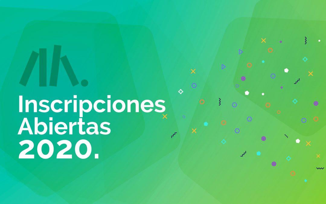 ¡Inscripciones 2020! Conocimientos para la educación actual.